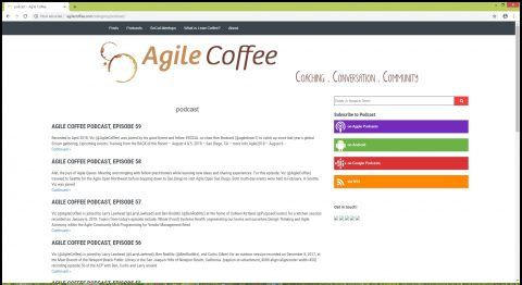 The Agile Coffee podcast is produced by Victor Bonacci