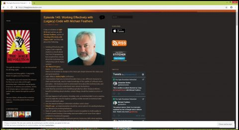 The Agile Revolution is a Agile podcast hosted by Craig Smith, Renee Troughton and Tony Ponton