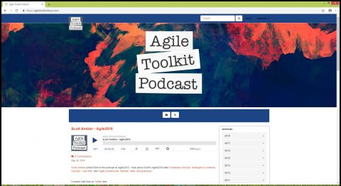 The Agile Toolkit Podcast is hosted by Bob Payne