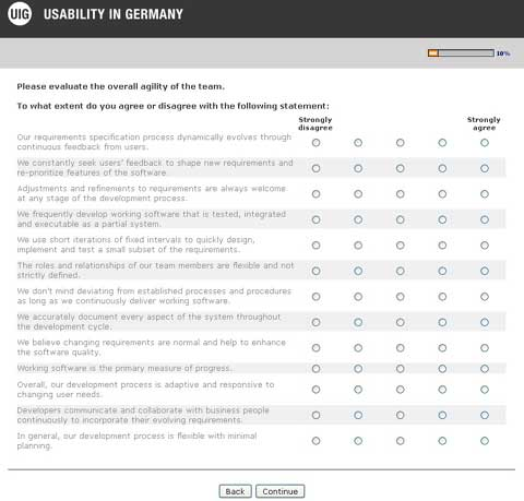 User-Centered Agility Assessment and Benchmark