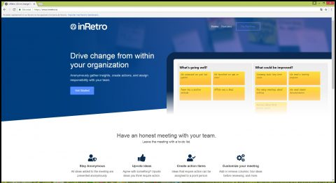 inRetro Scrum Retrospectives Tools