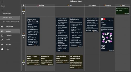 Kanban Board App open source tool
