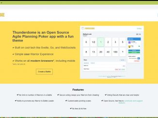 Thunderdome is an open source agile planning poker tool